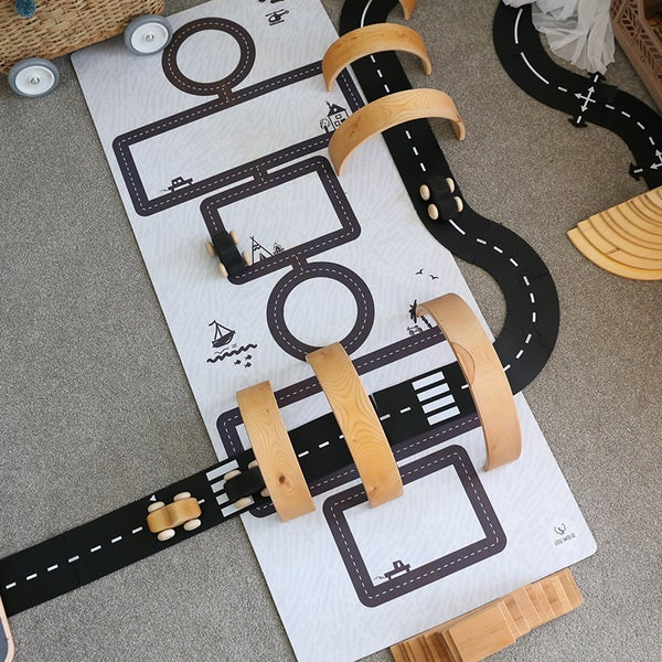 Image of Hopscotch Road Mat Monochrome HALF PRICE