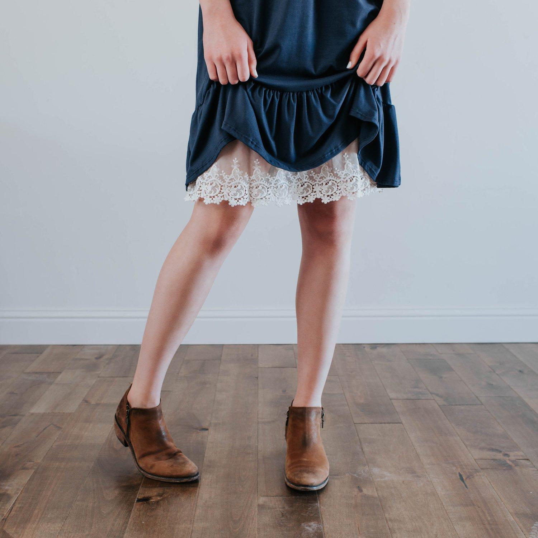Image of H6 Gorgeous Lace Half Slip Dress Extender | S-4XL