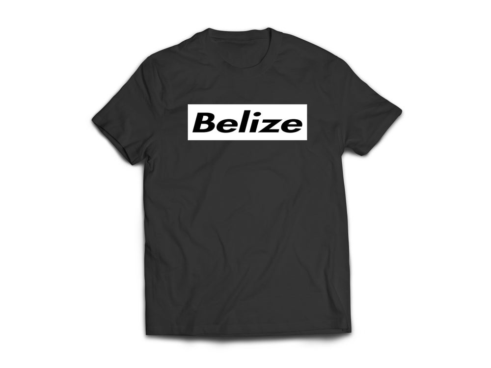 Image of BELIZE - T-SHIRT - BLACK/WHITE BOX