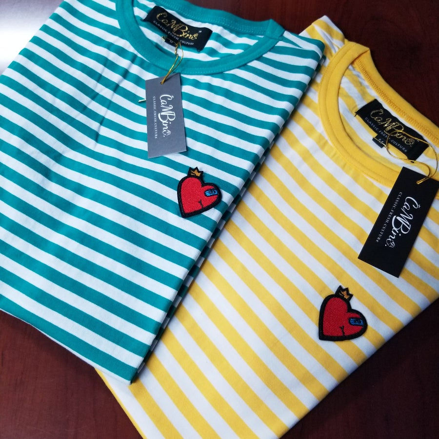 Image of HEART THROB STRIPED TEE