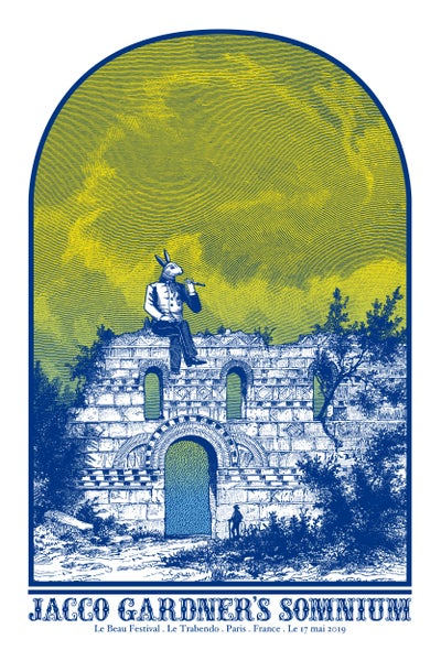Image of JACCO GARDNER'S SOMNIUM gigposter - Le Beau Festival - Le Trabendo Paris May 2019