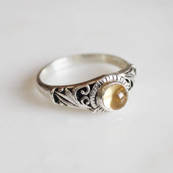 Image of Citrine vintage style ring