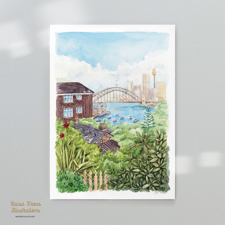Image of Sydney View - Art Print
