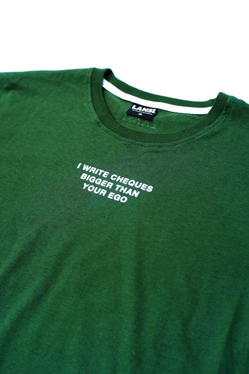 """Image of LANSI """"Chequebook"""" T-shirt"""