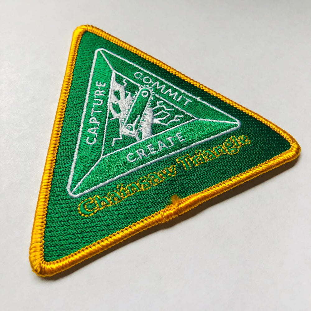 Chainsaw Triangle Collection Patches