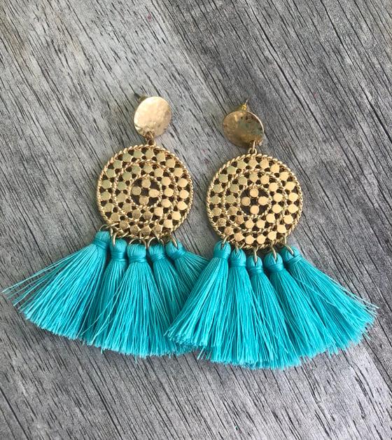 Image of Lana tassel earrings