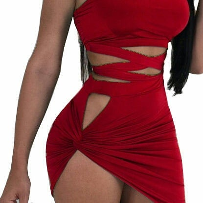 Image of Sexy Red Skirt Set