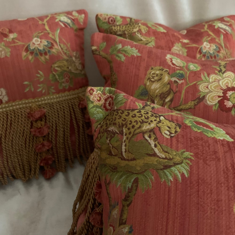 Image of Ruby Floral Pillows