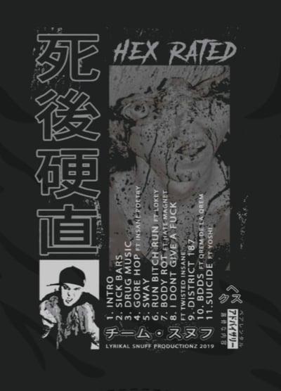 Image of HEX RATED: Rigor Mortis Japanese Bootleg   Reg shirt