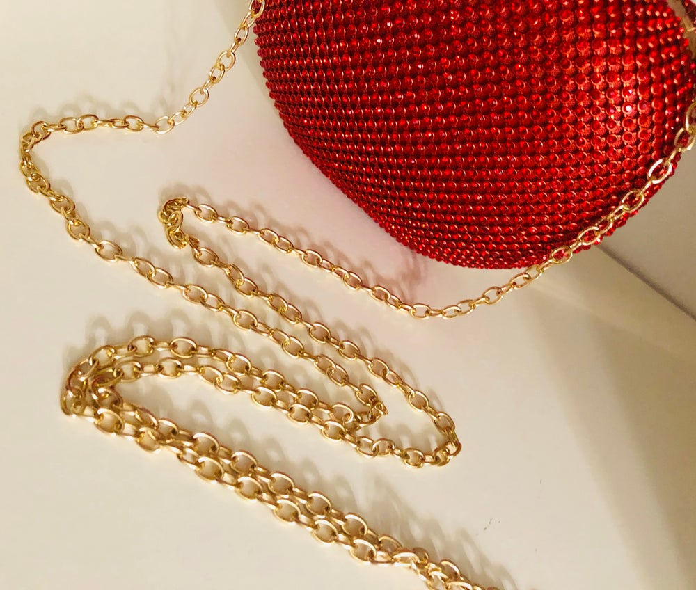 Image of BLING APPLE CLUTCH