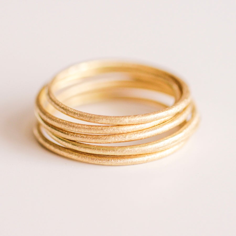 Image of Two Golden Thread Bands 18k