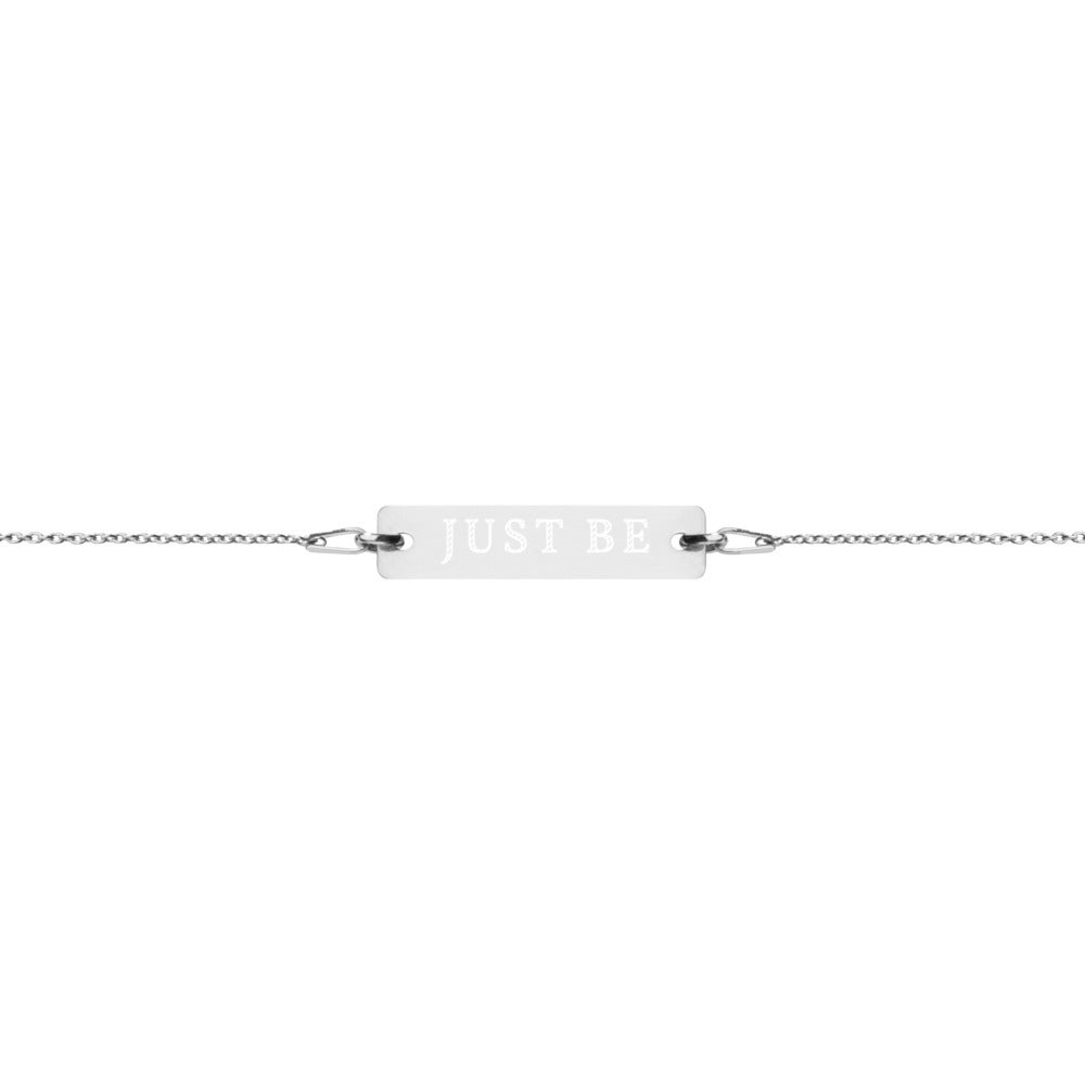 Image of Just Be Bracelet - Silver/Silver