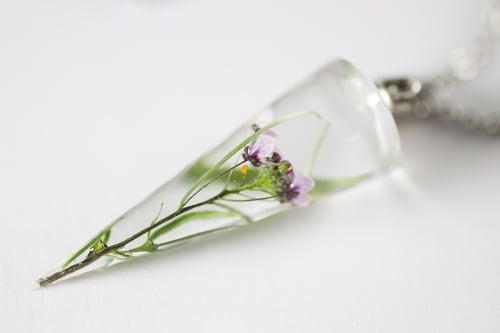Image of Sweet Alyssum (Lobularia maritima) - Cone Pendant #1