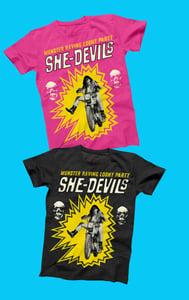 Image of T-Shirt.  : Ladies She-Devils T-Shirt.