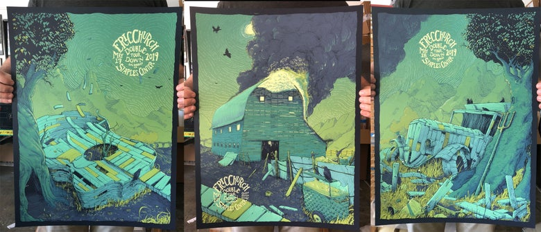Image of Set of 3 Eric Church Posters