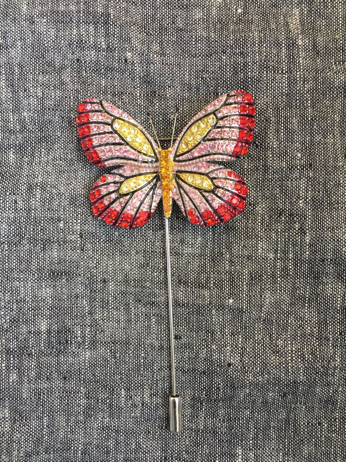 Image of Butterfly Lapel Pin (red, yellow, pink)
