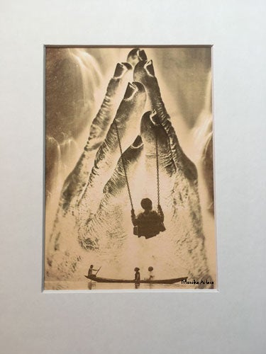 "Image of Swinging into Light - Digital Photo Art - 5x7"" print in 8x10"" white mat"