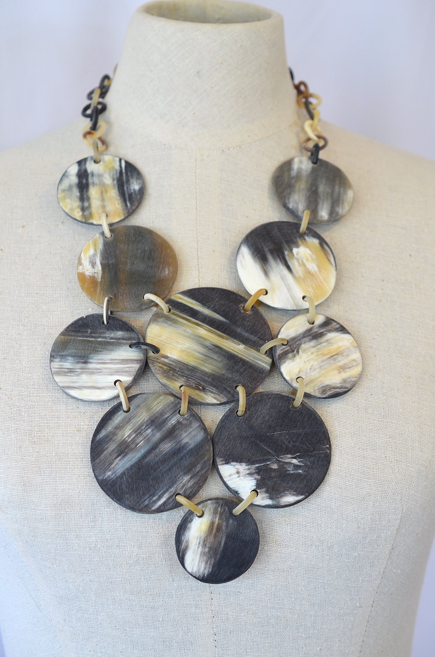 Image of Buffalo Horn Statement Necklace