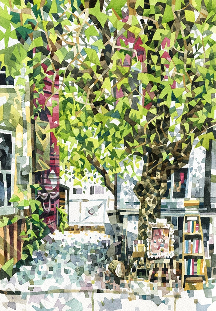 Image of Toronto Streets Watercolour Print