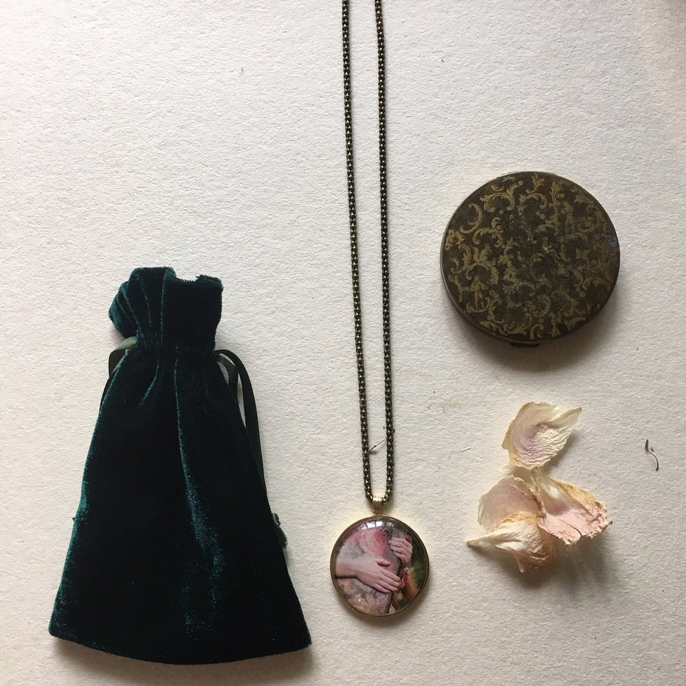 Image of Pendant Necklace Bronze Promised Land.