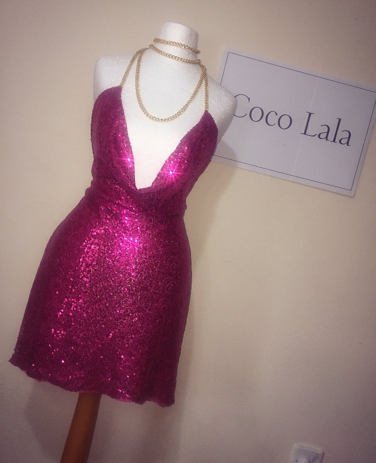 Image of Diamond Blossom Pink  Dress