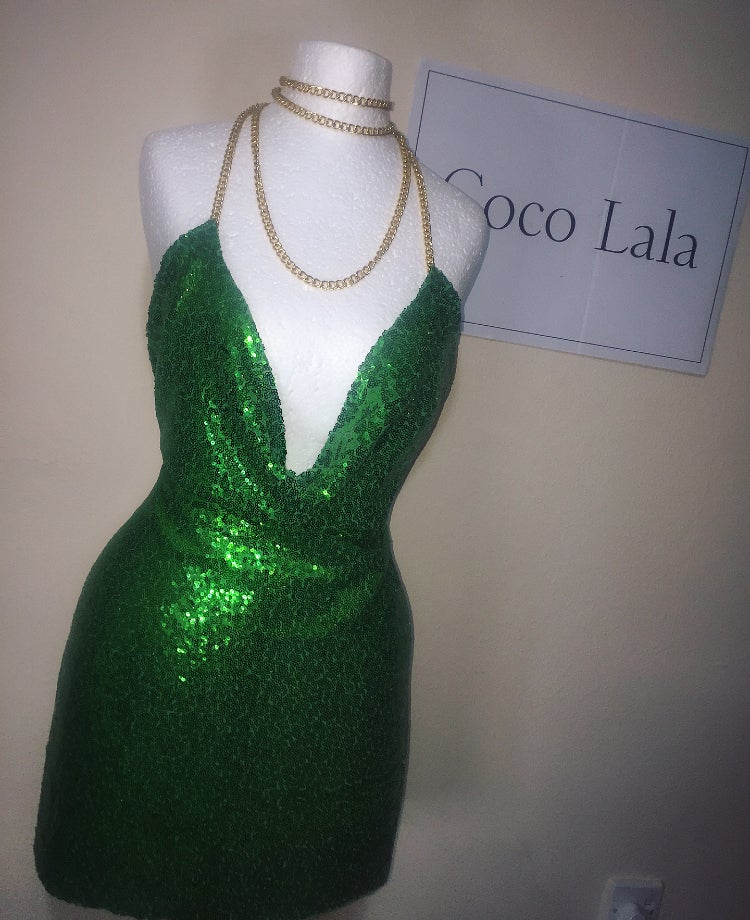 Image of Diamond Buttercup Green Dress