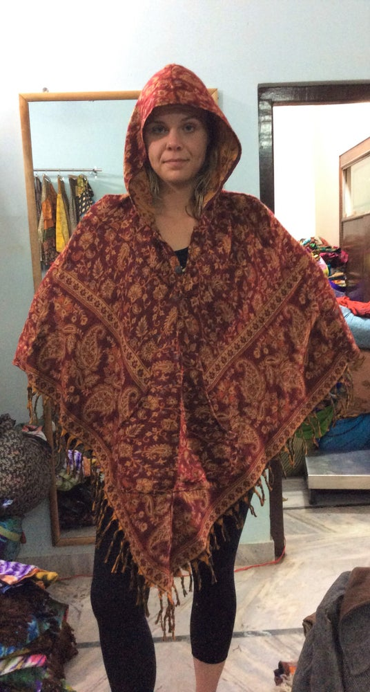 Image of Triangle Paisley Poncho