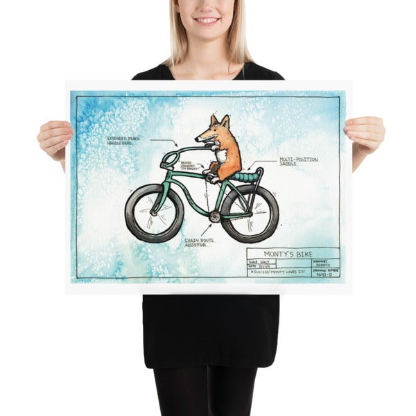 Image of Monty Bike Art Print