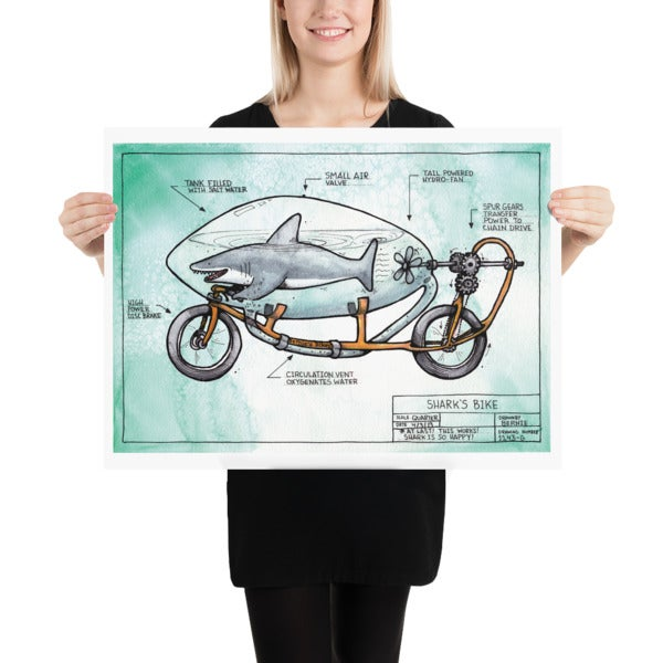 Image of Shark Bike Art Print