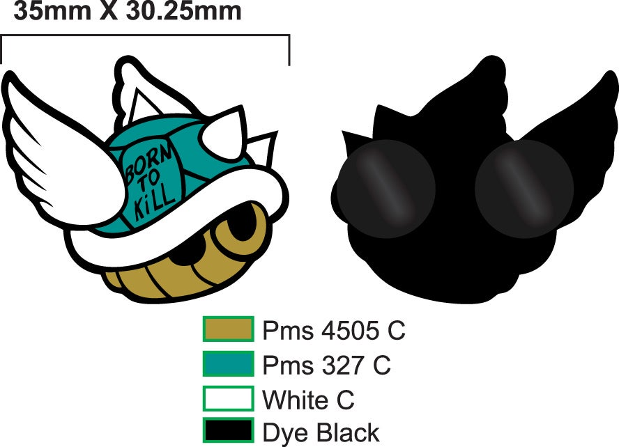 Image of KTWA Blue Shell Collectible Pin *PRE ORDER*