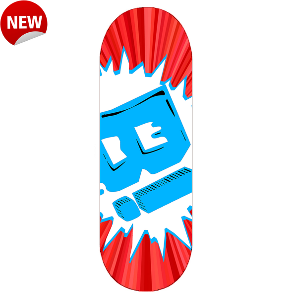 "Image of ""OVRSZD LOGO"" DECK (Candy Red Burst)"