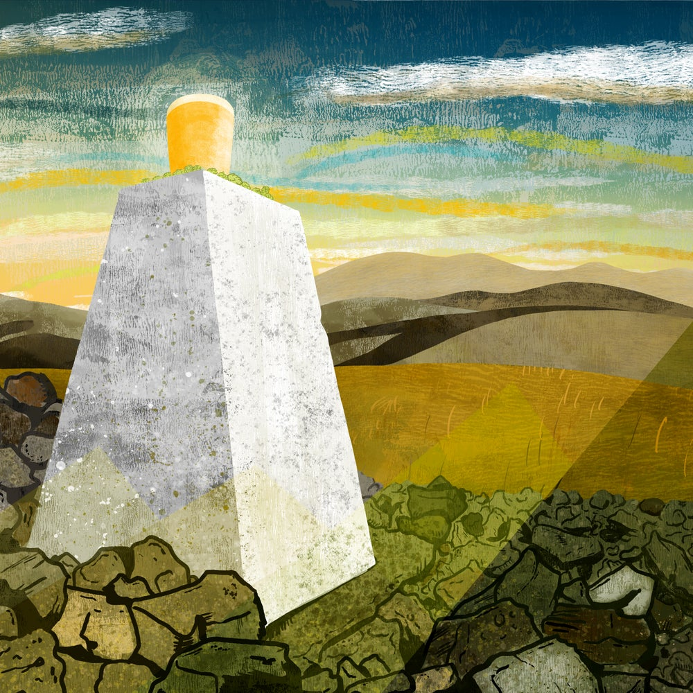 Image of TRIG POINT - Giclee Art Print - Beer Art - by Neil Baker