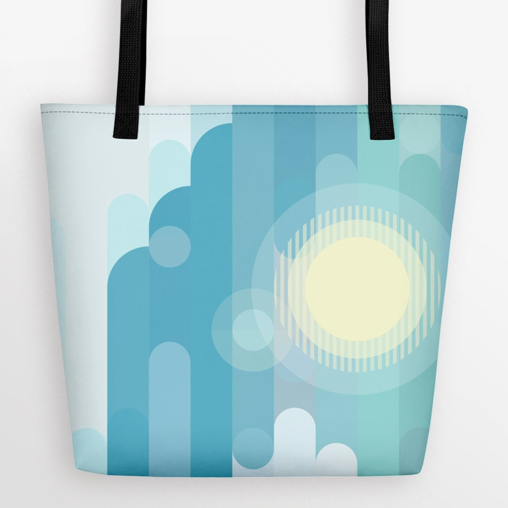 Image of Partly Cloudy Large Tote Bag