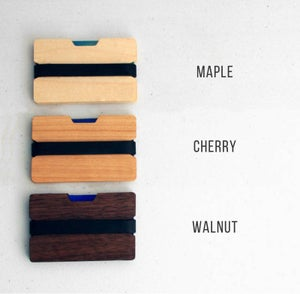 Image of Flexband Wooden Wallet Credit Card Holder