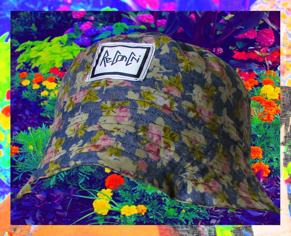 Image of ReConCri Custom Floral Blue Bucket Hat
