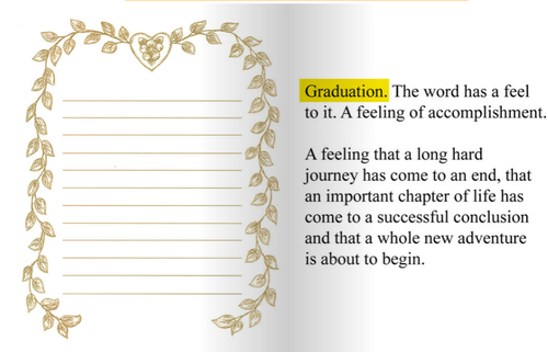Image of The Graduation Book (Standard)