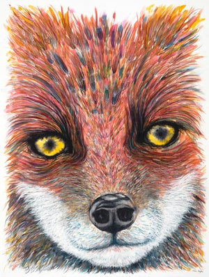 """Understood by the Mama Fox"" giclee print"