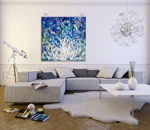 Image of Oceanum lilia - 90x90cm FRAMED - reserved