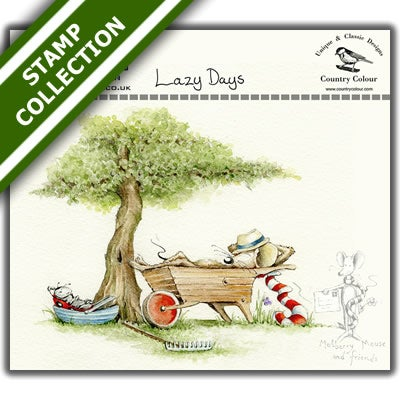 Image of [pre-order] Mulberry Mouse and Friends - Lazy Days Stamp Set