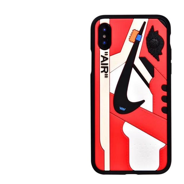 uk availability 2f36d c9aef Image of Off-White x Air Jordan 1 Chicago Black Trim 3D Sneaker iPhone Case