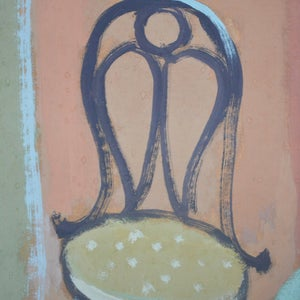 Image of 1957, Oil Painting - 'The Washstand,' Eva Holmberg-Jacobsson