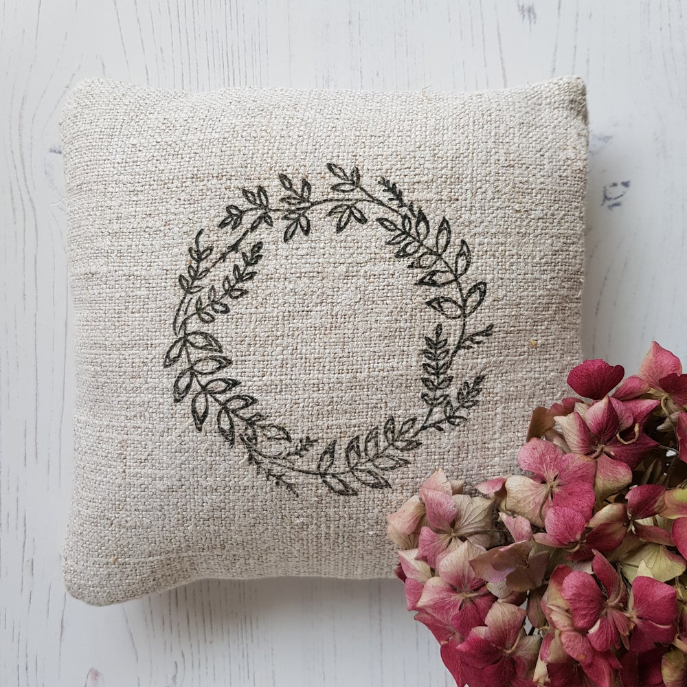 Image of Lavender Filled Wreath Pillow