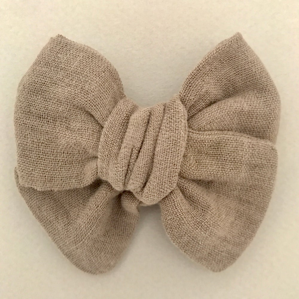 Image of Barrette double gaze taupe