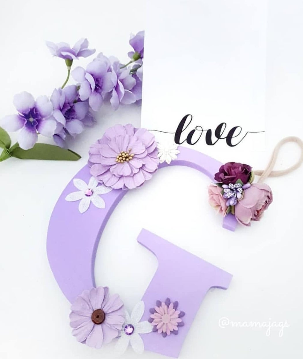 Image of Girls FLORAL Personalised Letters