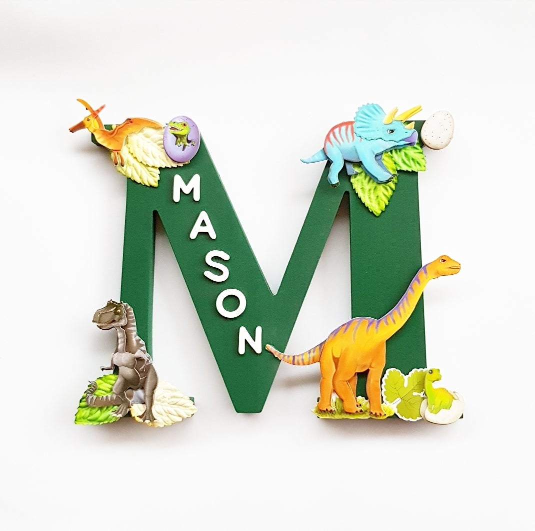 Image of Boys DINOSAUR Personalised Letters
