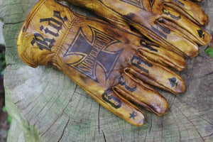 Image of Shovel/Motor/Gearhead RIDE HARD XL Cowhide gloves