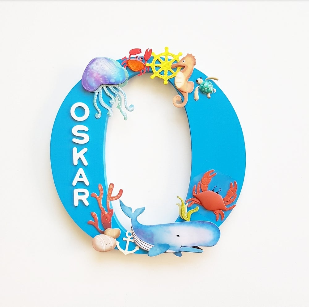 Image of Boys NAUTICAL/OCEAN Personalised Letters