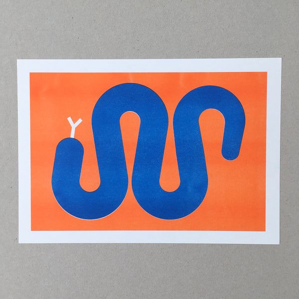 Image of Snake A4 Riso Print