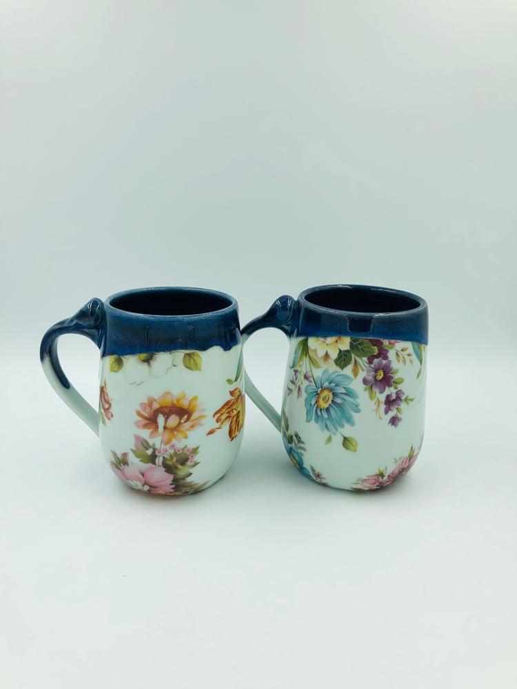 Image of Blue Floral Mugs