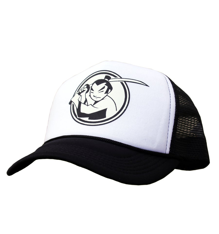 Image of FM Huntsville Samurai Logo Trucker Hat (Black)